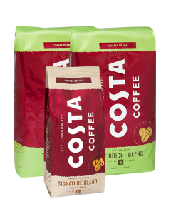 2 x Costa Coffee The Bright Blend 1 kg + GRATIS