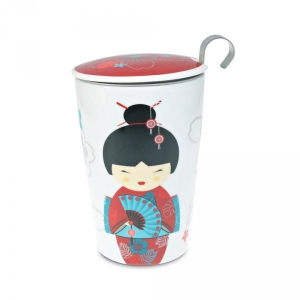 Eigenart kubek z zaparzaczem TeaEve Little Geisha Red 350 ml