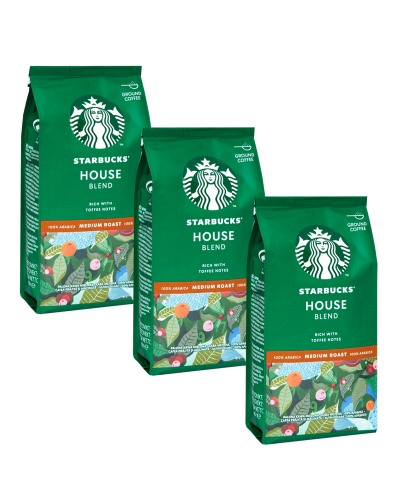 Starbucks House Blend Medium Roast 3 x 200g mielona